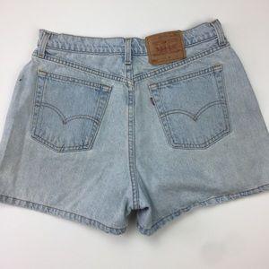 Vtg Levi's 561 High Waisted Denim Shorts Sz 14